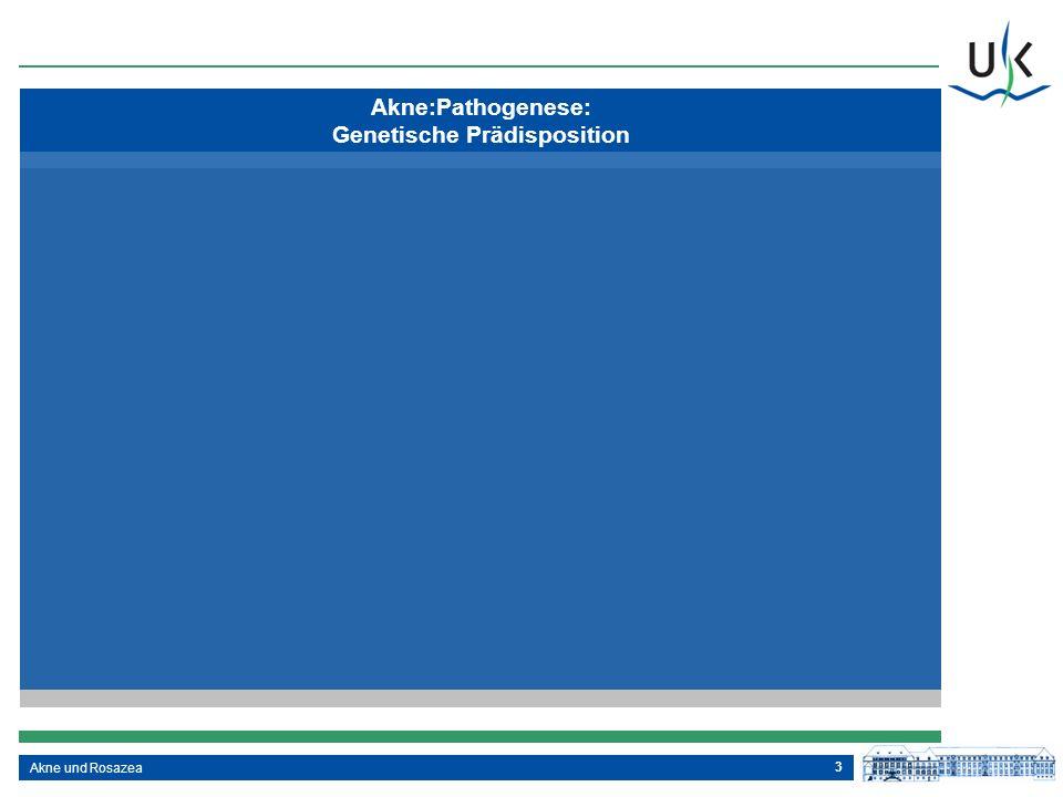 3 Akne:Pathogenese: Genetische Prädisposition Akne und Rosazea
