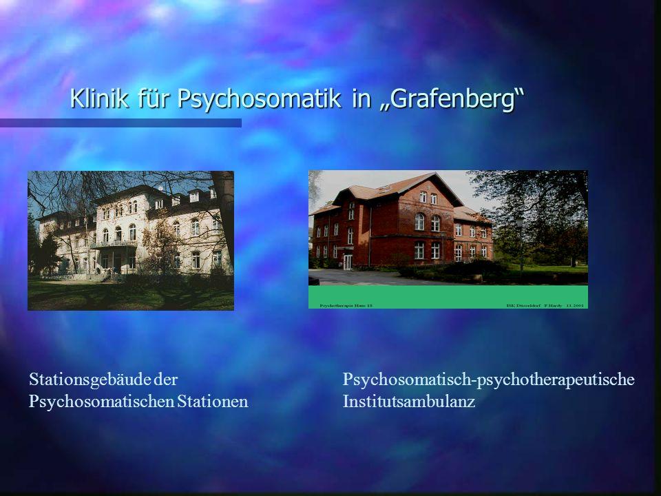 Klinik für Psychosomatik in Grafenberg Stationsgebäude der Psychosomatischen Stationen Psychosomatisch-psychotherapeutische Institutsambulanz