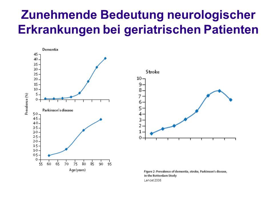Zunehmende Bedeutung neurologischer Erkrankungen bei geriatrischen Patienten Lancet 2006