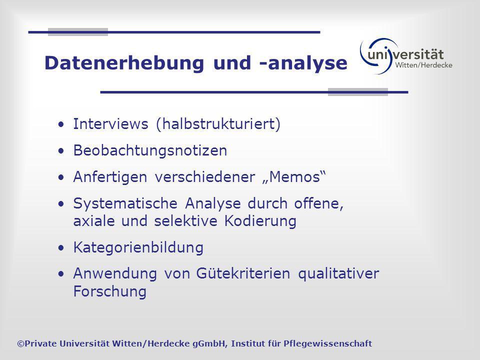 Interviews (halbstrukturiert) Beobachtungsnotizen Anfertigen verschiedener Memos Systematische Analyse durch offene, axiale und selektive Kodierung Ka