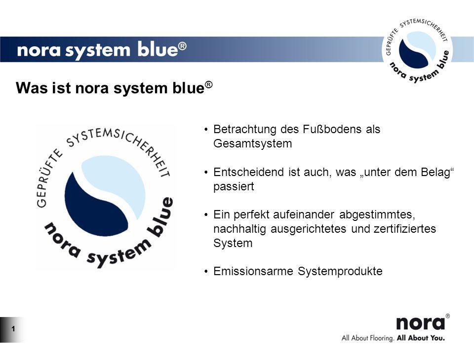 11 Was ist nora system blue ® Betrachtung des Fußbodens als Gesamtsystem Entscheidend ist auch, was unter dem Belag passiert Ein perfekt aufeinander a