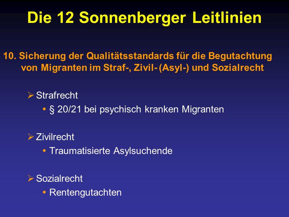 Die 12 Sonnenberger Leitlinien 10.