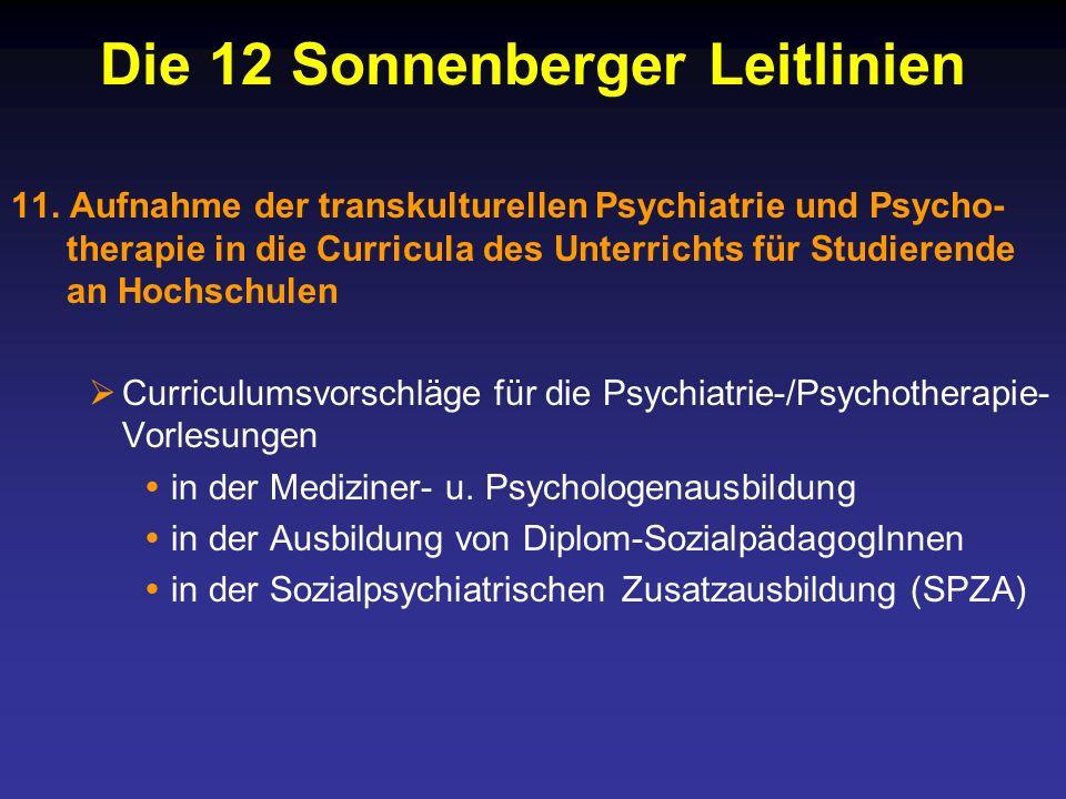 Die 12 Sonnenberger Leitlinien 11.