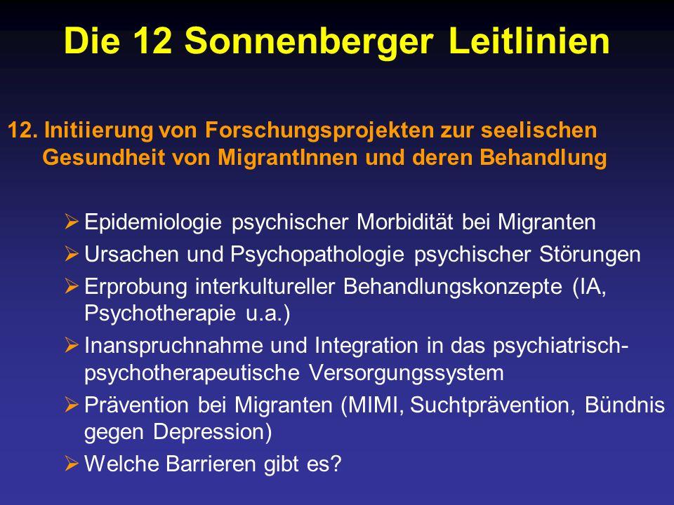 Die 12 Sonnenberger Leitlinien 12.