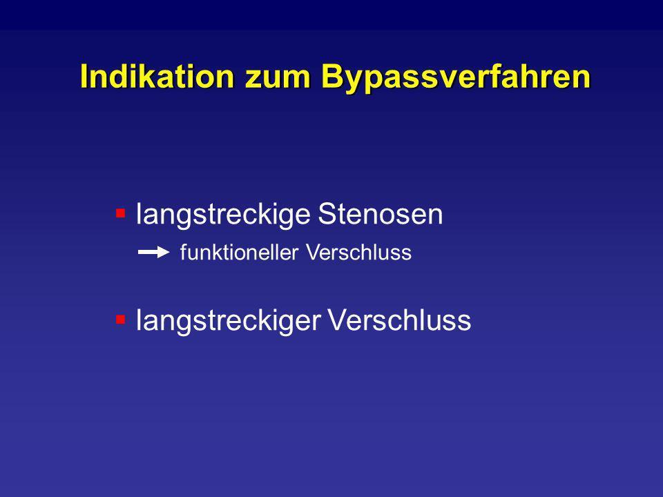 Indikation zum Bypassverfahren langstreckige Stenosen funktioneller Verschluss langstreckiger Verschluss