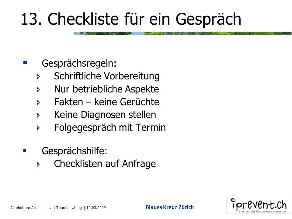 Alkohol am Arbeitsplatz | Teamberatung | 10.03.2009 Blaues Kreuz Zürich Modell der Verhaltensänderung Das Transtheoretische Modell