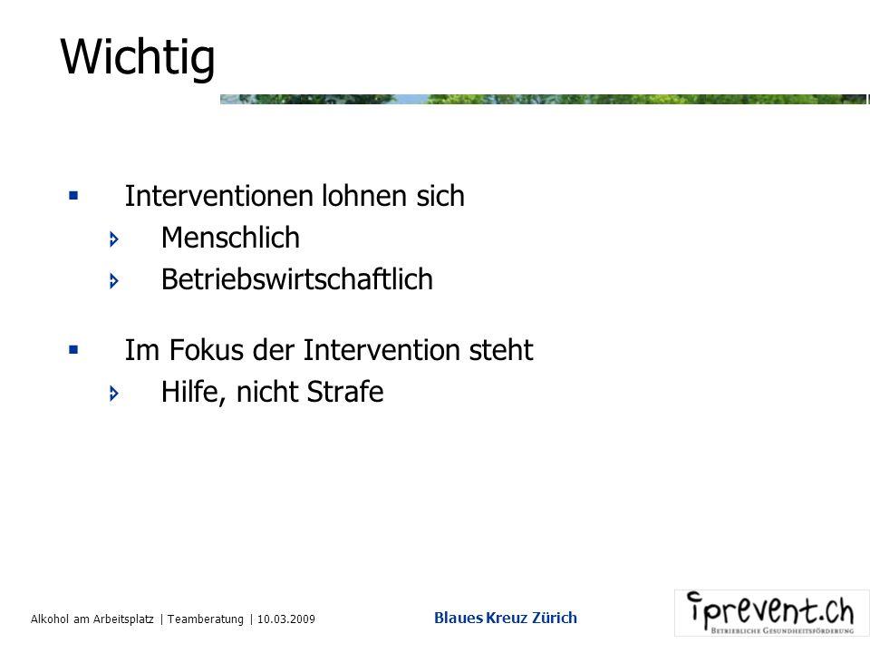 Alkohol am Arbeitsplatz | Teamberatung | 10.03.2009 Blaues Kreuz Zürich 13. Checkliste für ein Gespräch Gesprächsregeln: Schriftliche Vorbereitung Nur