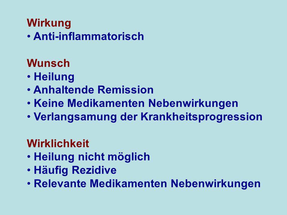 Wirkung Anti-inflammatorisch Wunsch Heilung Anhaltende Remission Keine Medikamenten Nebenwirkungen Verlangsamung der Krankheitsprogression Wirklichkei