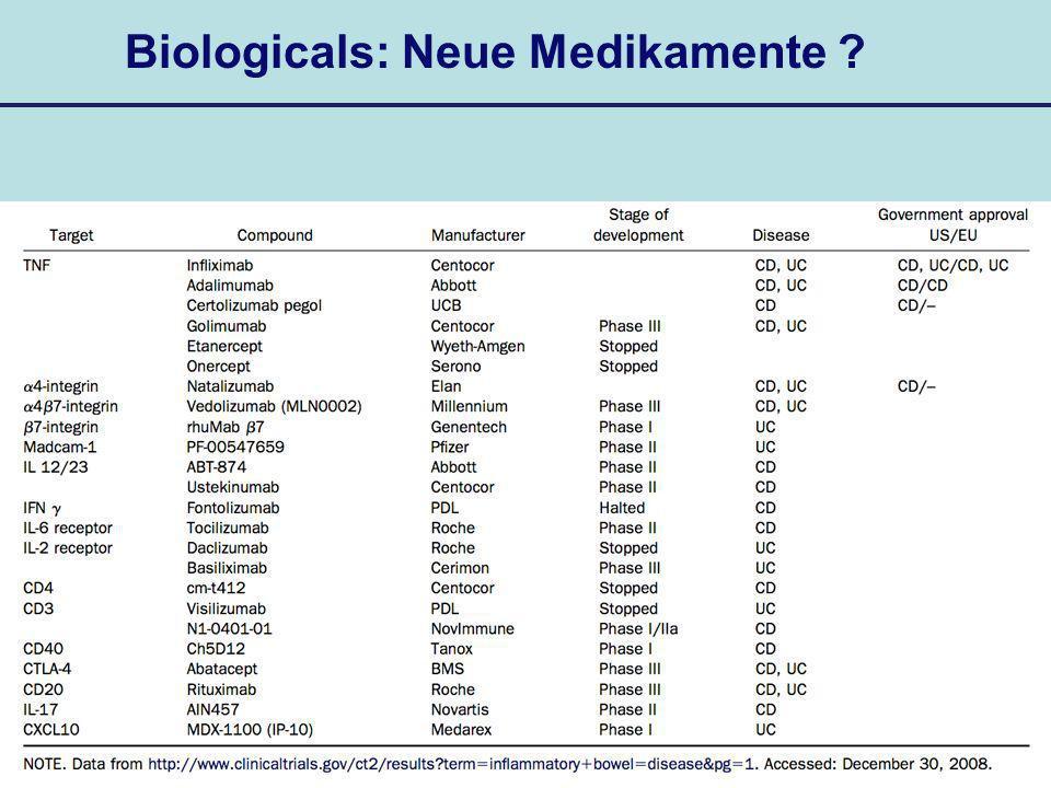 Biologicals: Neue Medikamente ?