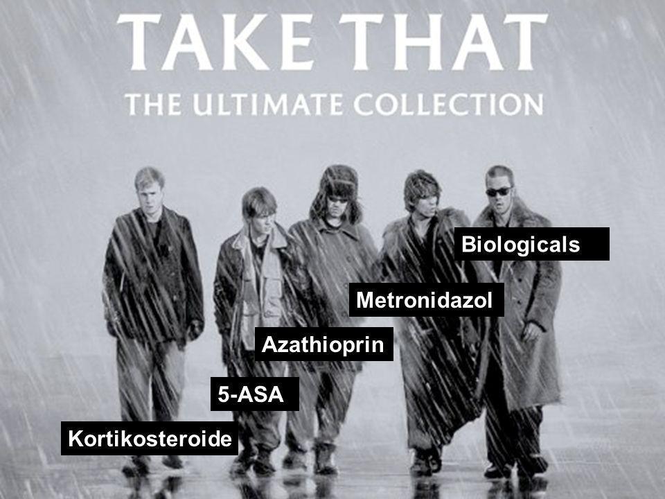 Kortikosteroide 5-ASA Azathioprin Metronidazol Biologicals