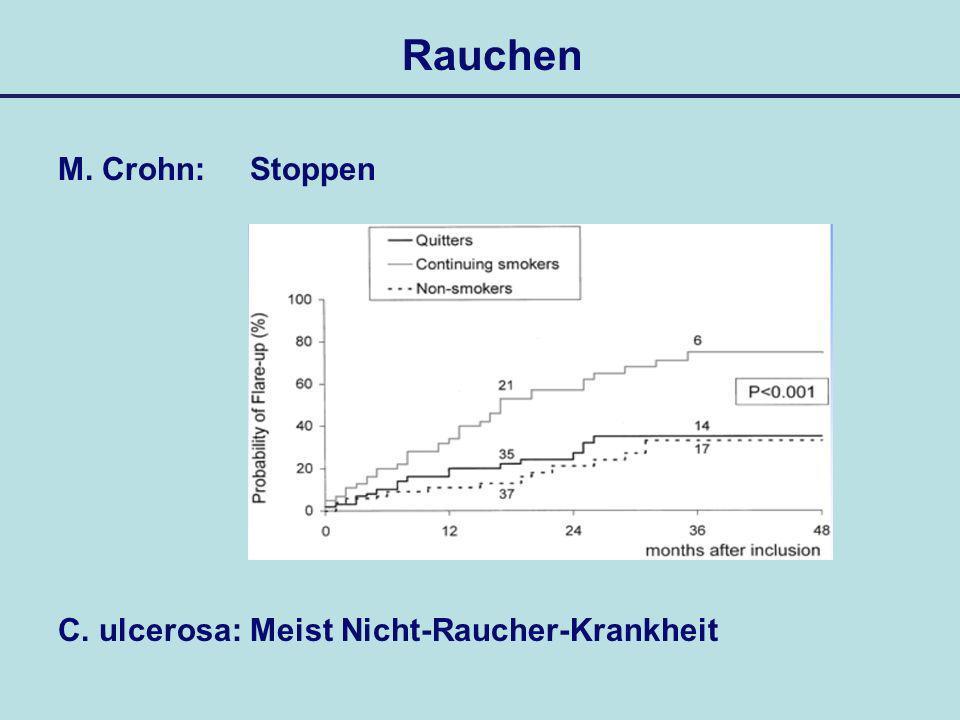 Rauchen M. Crohn:Stoppen C. ulcerosa: Meist Nicht-Raucher-Krankheit