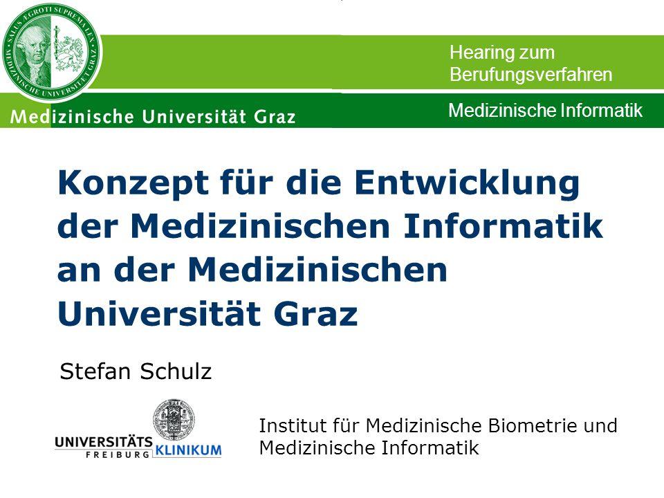 Stefan Schulz Institut für Medizinische Biometrie und Medizinische Informatik Konzept für die Entwicklung der Medizinischen Informatik an der Medizini