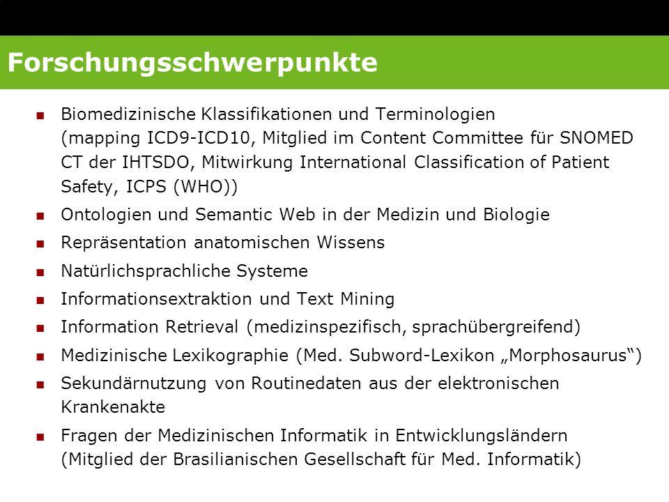 Drittmittel Arbeitsgruppe MI 2005 - 2010 EU: Semantic Interoperability and Data Mining in Biomedicine: 01/2004 – 06/2007, Jahresbudget Freiburg ca.