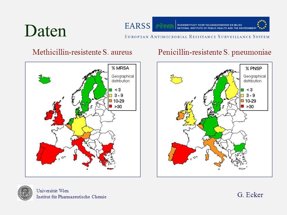 G.Ecker Universität Wien Institut für Pharmazeutische Chemie Daten Methicillin-resistente S.