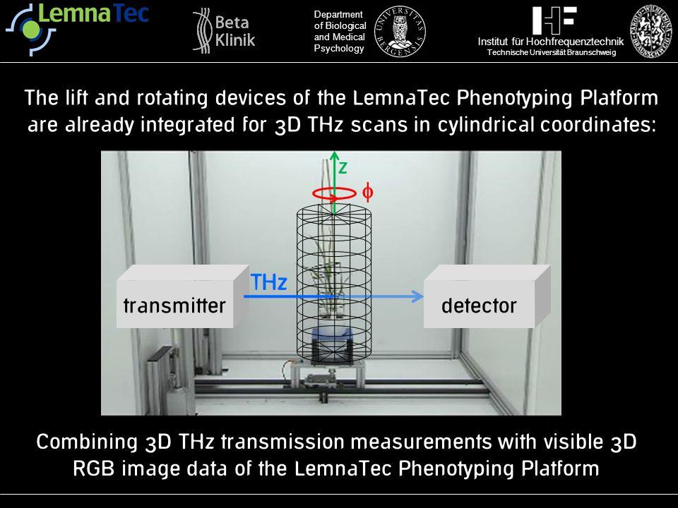 Institut für Hochfrequenztechnik Technische Universität Braunschweig Department of Biological and Medical Psychology The lift and rotating devices of