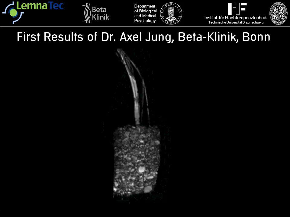 Institut für Hochfrequenztechnik Technische Universität Braunschweig Department of Biological and Medical Psychology First Results of Dr. Axel Jung, B