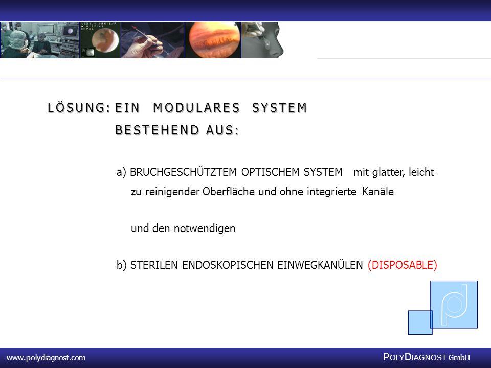 www.polydiagnost.com P OLY D IAGNOST GmbH www.polydiagnost.com P OLY D IAGNOST GmbH LÖSUNG:EIN MODULARES SYSTEM BESTEHEND AUS: a) BRUCHGESCHÜTZTEM OPT
