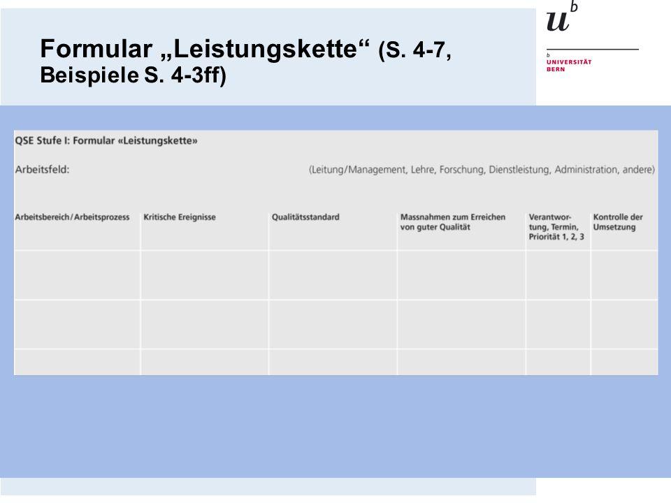 Formular Leistungskette (S. 4-7, Beispiele S. 4-3ff)
