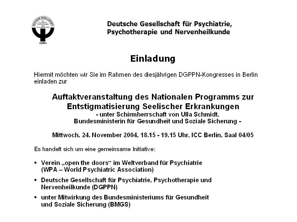 Deutsche Gesellschaft für Psychiatrie, Psychotherapie und Nervenheilkunde