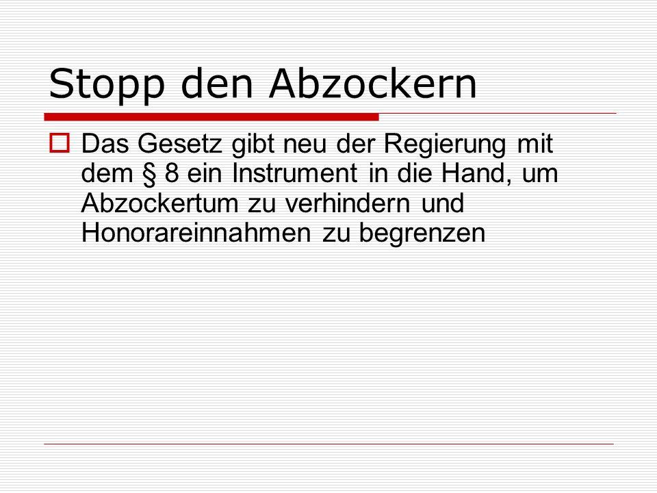 VZK (Verband der Zürcher Krankenhäuser) Das Gesetz erlaubt den subventionierten Spitälern (des VZKs), weiter gehende Honorarregelungen zugunsten des Spitals aufrecht zu erhalten