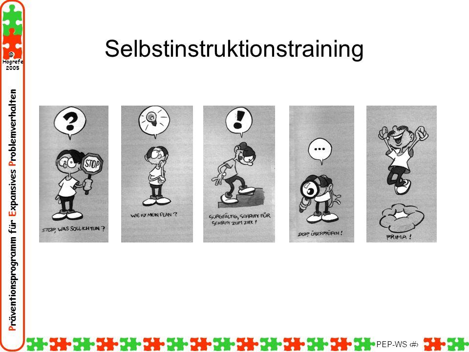 Präventionsprogramm für Expansives Problemverhalten Hogrefe 2005 © PEP-WS 139 Selbstinstruktionstraining