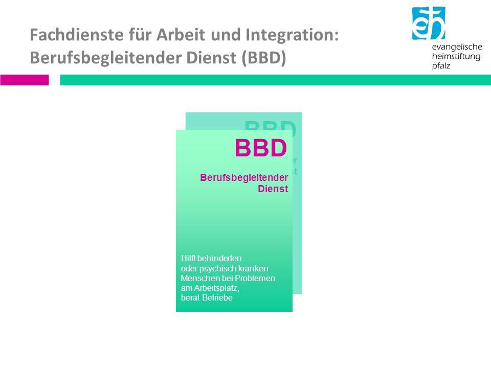 Der BBD arbeitet: kostenlos vertraulich mit festen Ansprechpartnern nach dem Freiwilligkeitsprinzip