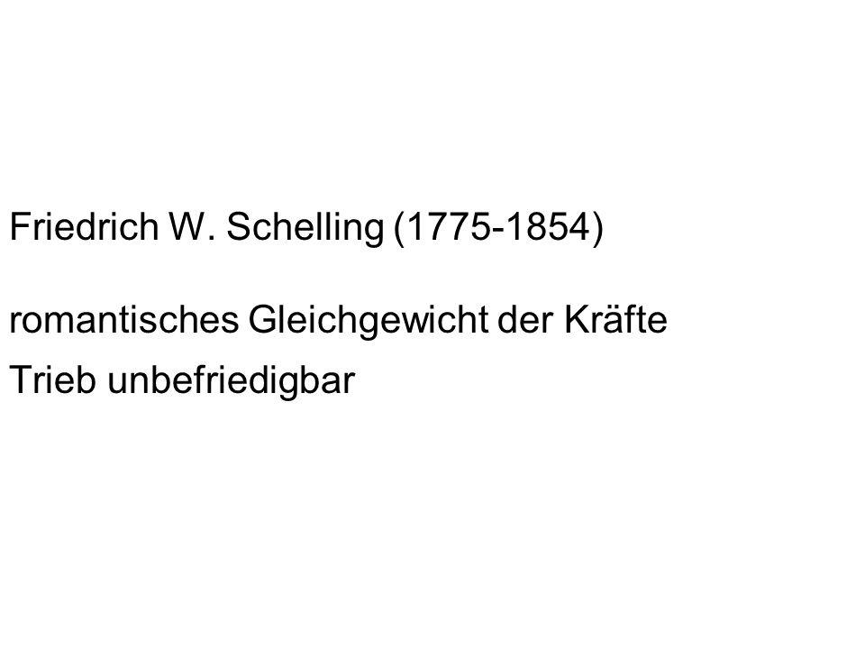 Friedrich W. Schelling (1775-1854) romantisches Gleichgewicht der Kräfte Trieb unbefriedigbar