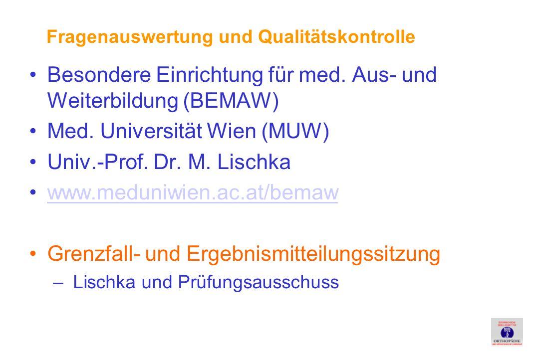 Besondere Einrichtung für med.Aus- und Weiterbildung (BEMAW) Med.