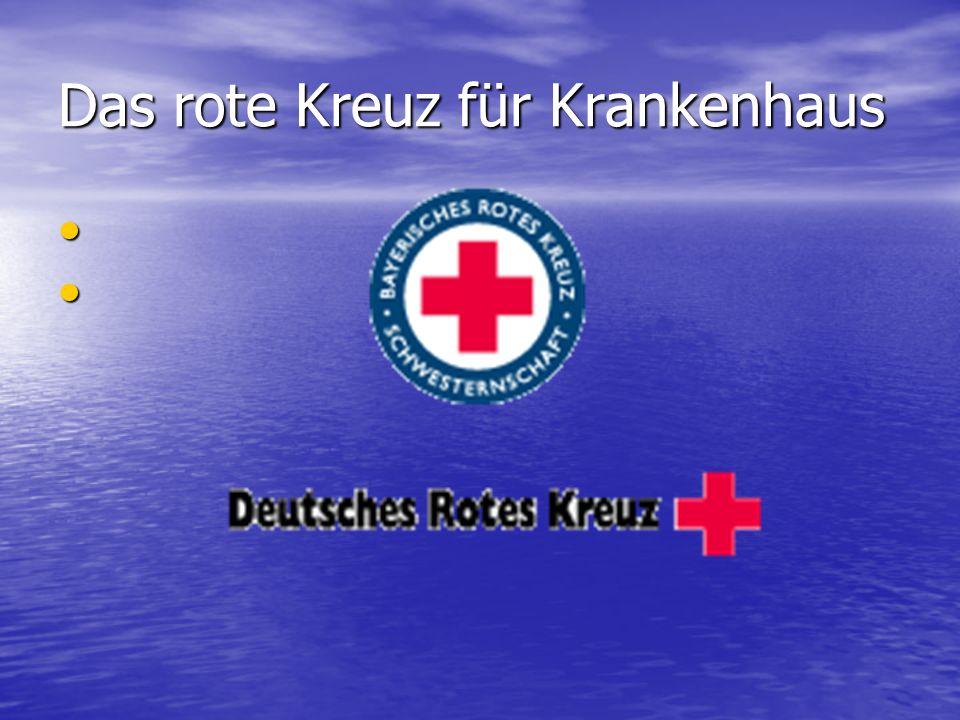 Das rote Kreuz für Krankenhaus