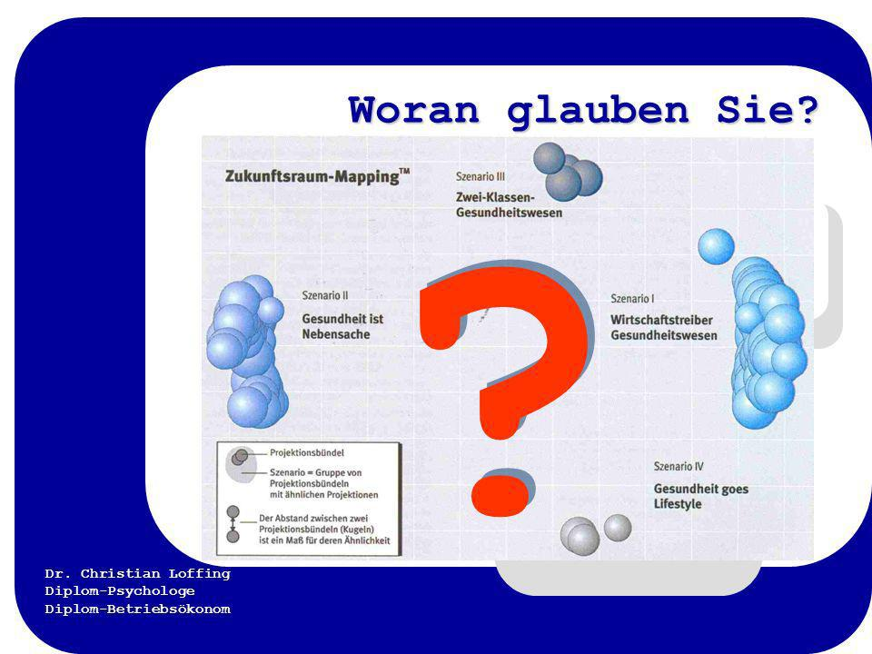 Dr. Christian Loffing Diplom-Psychologe Diplom-Betriebsökonom Woran glauben Sie? ? ?