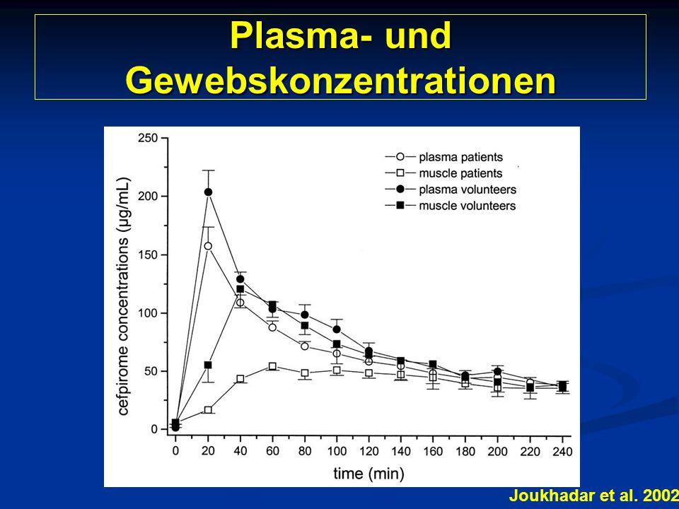 Plasma- und Gewebskonzentrationen Joukhadar et al. 2002