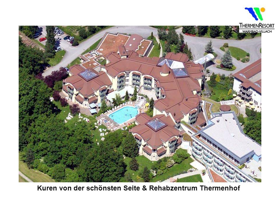 Kuren von der schönsten Seite & Rehabzentrum Thermenhof