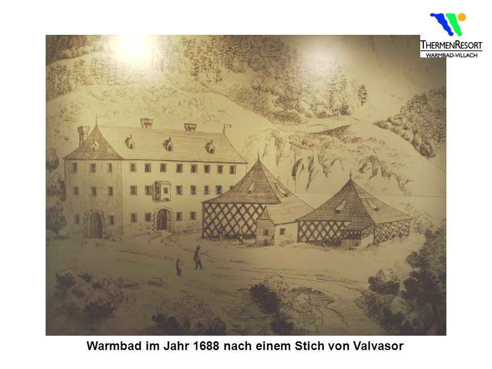 Warmbad im Jahr 1688 nach einem Stich von Valvasor