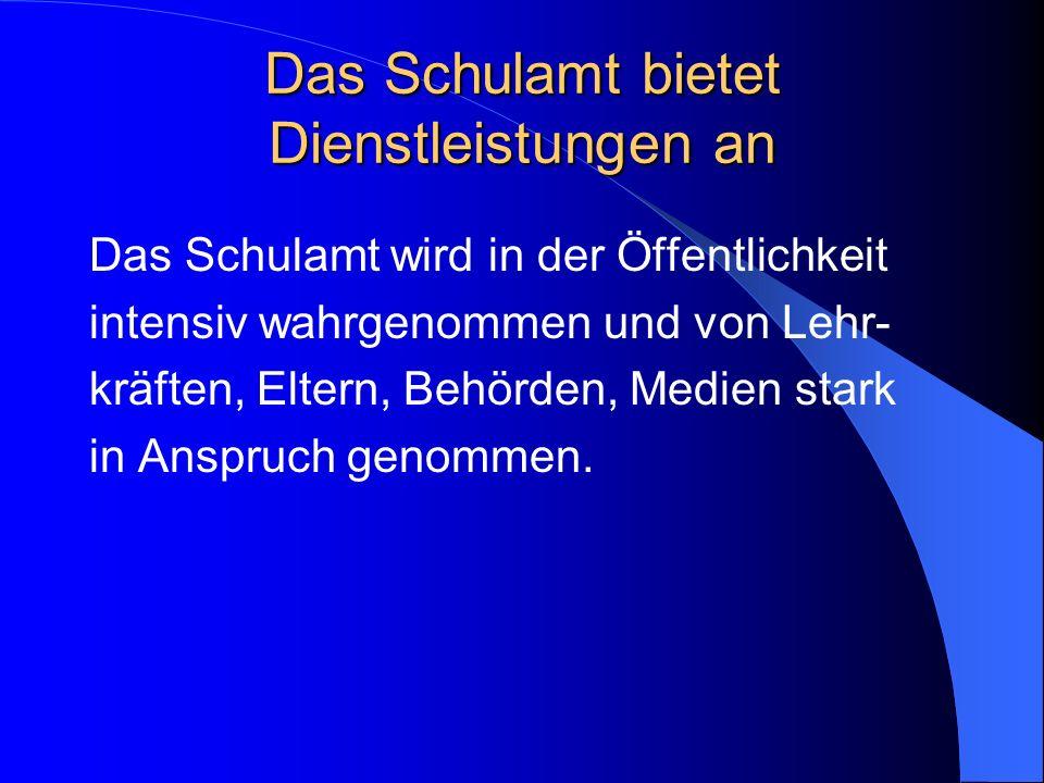 Schulamt und Schulen gemeinsam Das Schulamt Rosenheim will sich diesen Herausforderungen gemeinsam mit seinen Schulen stellen und die anstehenden Aufgaben, z.B.