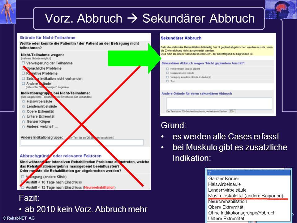 © RehabNET AG Version 8.12.2009 (W.Steiner) Vorz.