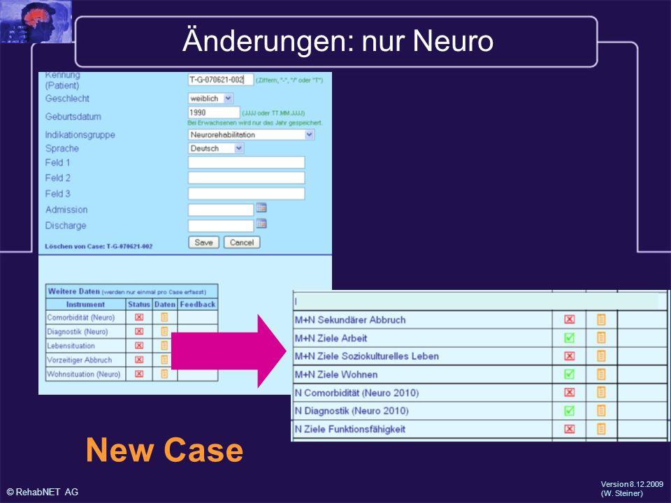 © RehabNET AG Fragebogen Neuro Testphase 2010
