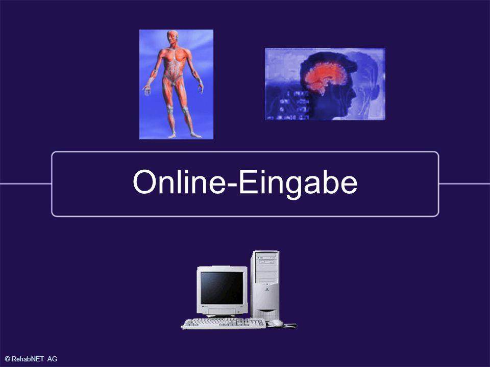© RehabNET AG Online-Eingabe