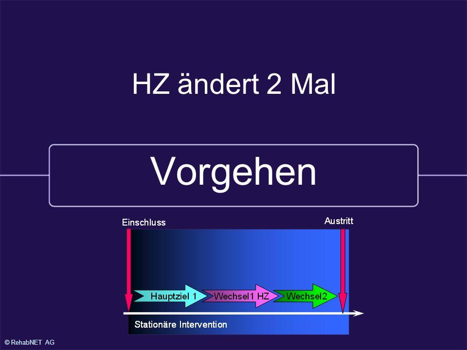 © RehabNET AG HZ ändert 2 Mal Vorgehen