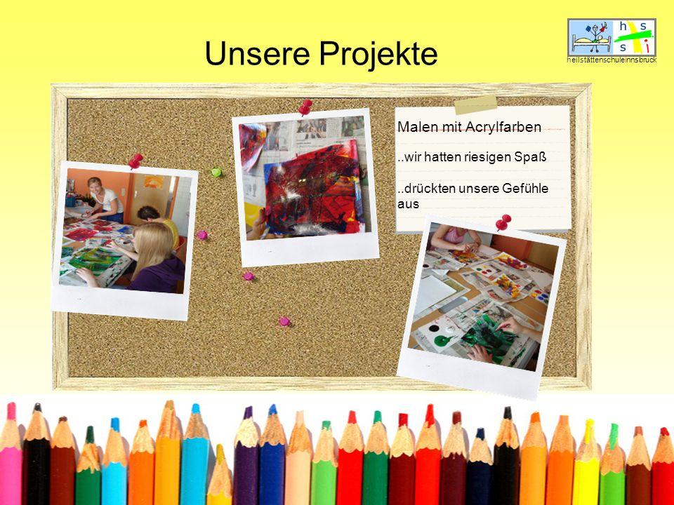 Unsere Projekte heilstättenschuleinnsbruck Malen mit Acrylfarben..