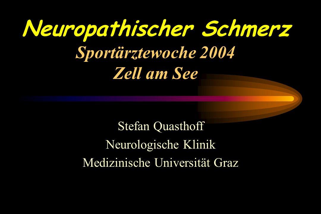 Therapie neuropathischer Schmerzen Behandlungsstrategien: - Patientengespräch - Therapieziel - Stoffwechseleinstellung bei Diabetes, Niereninsuffizienz und Alkohol Karenz.