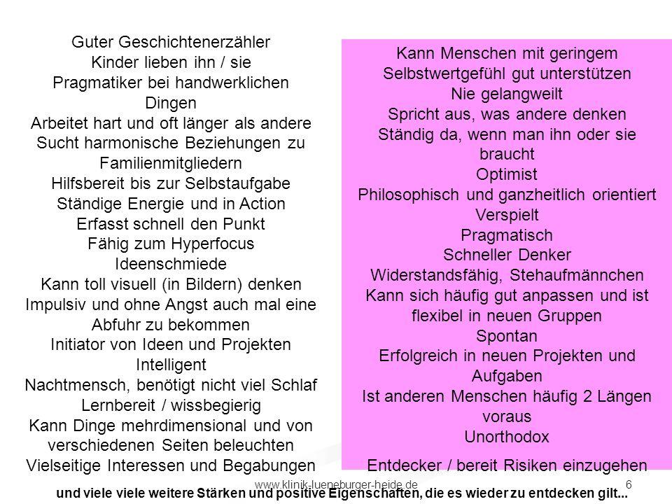 6www.klinik-lueneburger-heide.de und viele weitere Stärken und positive Eigenschaften, die es wieder zu entdecken gilt... Guter Geschichtenerzähler Ki