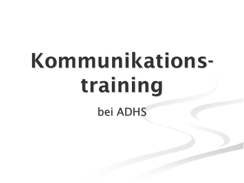Kommunikations- training bei ADHS