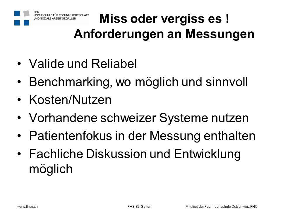 www.fhsg.chFHS St. GallenMitglied der Fachhochschule Ostschweiz FHO Miss oder vergiss es .