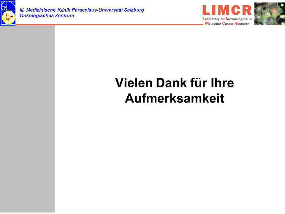 III. Medizinische Klinik Paracelsus-Universität Salzburg Onkologisches Zentrum Vielen Dank für Ihre Aufmerksamkeit