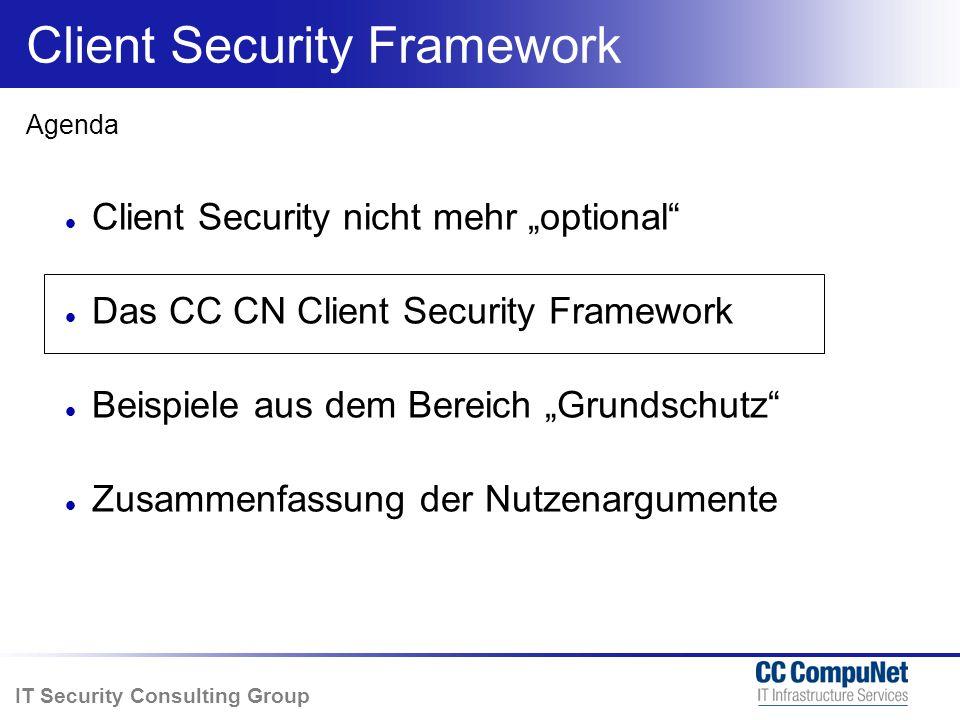 IT Security Consulting Group Nicht alle gleich Problem- bereiche Betroffene Gerätegruppen Probleme die das ganze Unternehmen lahm legen können Z.