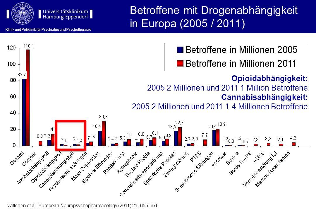 Klinik und Poliklinik für Psychiatrie und Psychotherapie Wittchen et al. European Neuropsychopharmacology (2011) 21, 655–679 Betroffene mit Drogenabhä