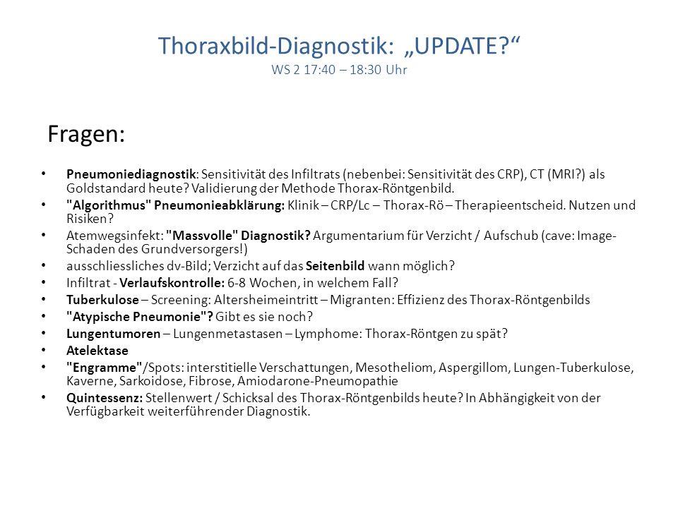 Thoraxbild-Diagnostik: UPDATE.