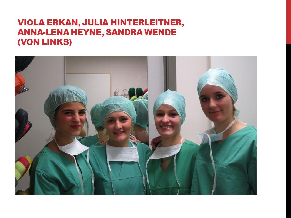 VIOLA ERKAN, JULIA HINTERLEITNER, ANNA-LENA HEYNE, SANDRA WENDE (VON LINKS)