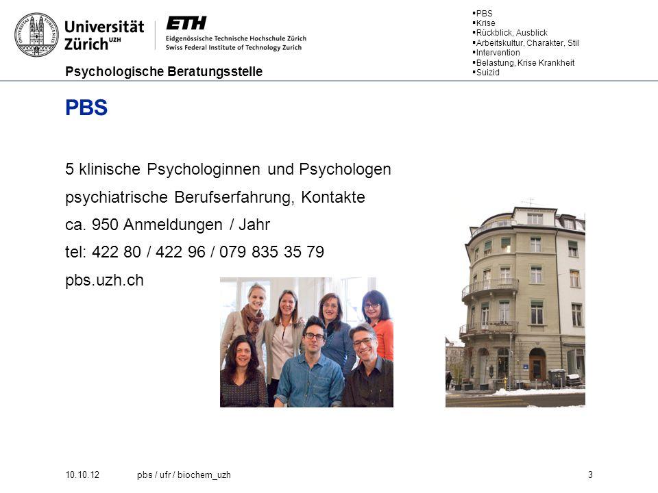 Psychologische Beratungsstelle PBS Krise Rückblick, Ausblick Arbeitskultur, Charakter, Stil Intervention Belastung, Krise Krankheit Suizid Belastung, Krise, Krankheit Kontinuum.