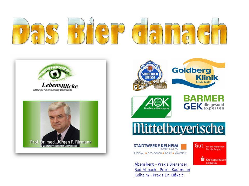 info@das-bier-danach.de D IE BAYERISCHE A KTION ZUR D ARMKREBSVORSORGE Darmkrebs Vorsorge erfolgt info@das-bier-danach.de